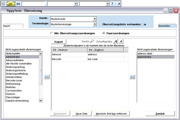 TippyTerm Übersetzungszuordnung